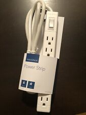 Insignia 6 Outlet Power Strip - White