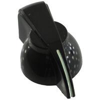 """Chicken head knob set screw 1/4"""" black glow in the dark"""