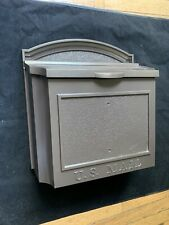 Whitehall Wall Mounted Locking Aluminum Mailbox Bronze Color-New