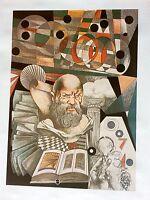 AMAZING ORIGINAL VINTAGE ART SIEGFRIED REINHARDT LIMITED EDITION LITHOGRAPH