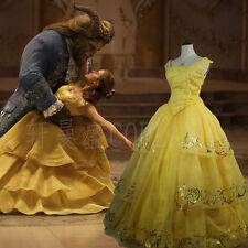 Beauty And The Beast Belle Princess Party Dress Cosplay Halloween Costume