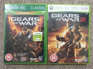 gears of war 1 & 2 XBOX 360 2 game bundle PAL new not sealed includes expansion