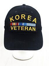 KOREA VETERAN HAT CAP BLACK PATCH  SNAPBACK MILITARY DAD HAT