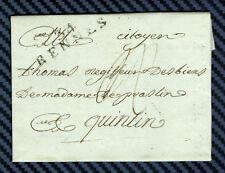 -= Lettre de RENNES (Ille-et-Vilaine) pour QUINTIN (Côtes-du-Nord) -1802 =-
