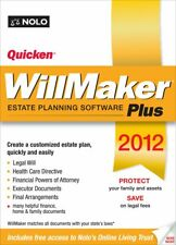 Quicken WillMaker Estate Planing Software PLUS 2012 Nolo Living Trust Windows