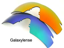 GALAXY Lenti di ricambio per Oakley M Frame 2.0 STRIKE VERDE & Rosso