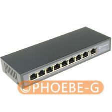 DSLRKIT 9 Ports 8 PoE Injector Power Over Ethernet Switch 4,5+/7,8- IP Cameras