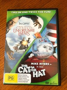 Lemony Snicket's A Series Of Unfortunate Events & The Cat In The Hat dvd 2 disc