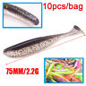 10Pcs Fishing Lure 75mm 2.2g Shiner Jig Swimbait Artificial Soft Bait Lures A+
