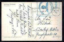 1943 Karlsbad Germany Sanatorium Waffen SS Feldpost Postcard Cover Imperial Hote