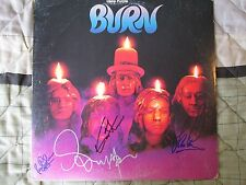 Deep Purple SIGNED Burn lp. RARE & AUTHENTIC. Gillan, Paice, Hughes and Glover