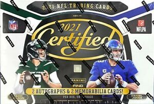 NEW ENGLAND PATRIOTS 2021 CERTIFIED FOOTBALL 2 HOBBY BOXES BREAK NFL #1124