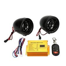 Motorcycle MP3 Player Sound amplifier FM Radio Security Alarm Remote USB SD MMC
