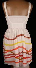 Topshop White Striped Zip Dress Sz 6