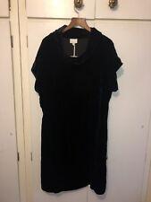 East John Lewis Black Velvet Cowl Neck Medium Length Dress Size 12 UK