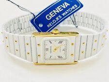 Vintage Geneva  Gold & White Tone Women's Quartz Wrist Watch  SLIM (19086M)