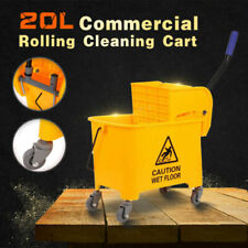 20l 5gallon Commercial Mini Mop Bucket With Wringer Combo Cleaning Cart Wringer