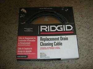 "RIDGID MODEL C-21 DRAIN 5/16"" X 50' CLEANING CABLE #89400-FREE SHIP-BIN 5"