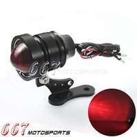 Rear Motorbike Bullet Taillight Brake LED Tail Light For Harley Bobber Chopper