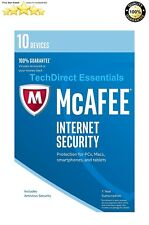 McAfee Internet Security 1 Yr Subscription 10 Device Includes Antivirus Security