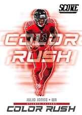 Two card lot 2018 Score Football Julio Jones Color Rush Atlanta Falcons #15