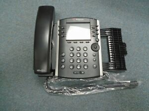 Polycom 2200-46157-025 VVX 400 VOIP IP POE Color Display Telephone W/ Stand #B