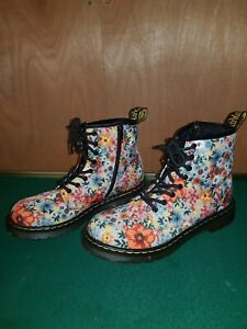 Dr Martens Airwair Floral Boots Uk Size 3