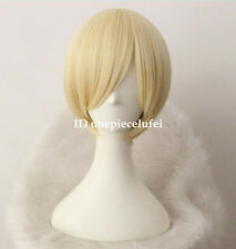 Axis Powers Hetalia Aph Russia Ivan Light Gold Short Cosplay Wig+a wig cap