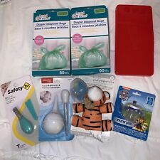 Mixed Baby Item Lot Pacifiers Nail Clippers Nasal Aspirator Diaper Bags