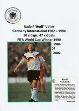 RUDI VOLLER GERMANY INT 1982-1994 ORIGINAL HAND SIGNED MAGAZINE CUTTING