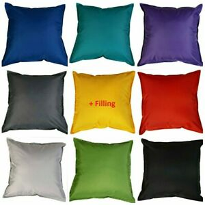 Waterproof Garden FILLED Cushions Furniture Outdoor Indoor Seats Cushion PADS