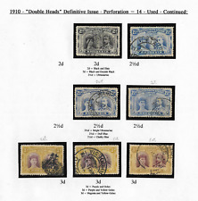 Rhodesia BSAC 1910 KGV Double Heads Def. Issue 3 Values Used