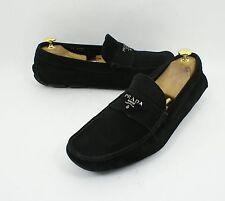 Prada Milano Suede Loafer Driving Shoe Black Size 9 US 8 EU