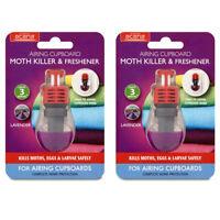 2 x Acana Airing Cupboard Moth Killer And Freshener- Kills Moths,Eggs and Larvae