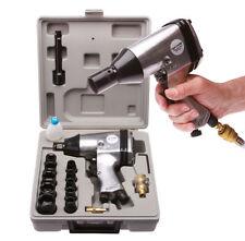 Druckluftschlagschrauber mit 10 Nüssen 9 bis 27 mm vielen Zusatzteilen 340 NM