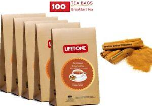 Healthy Breakfast tea,blended with a hint of Sweet Cinnamon,100 Tea bags