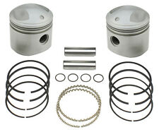 "Med Comp PISTONS RINGS PIN SET 1948 & later Harley FLH 74"" Pan Shovel OHV Motors"