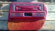 1977-1979 Lincoln Continental Towncar Town Car Pass Right Rear Door Panel RED