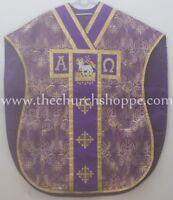 New Purple Agnus Dei Chasuble St. Philip Neri Style vestment Stole & mass set