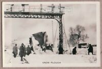 Rail Road Snow Plow Clearing Tracks Barnard Castle 1930s Trade Ad Card