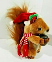 """Gemmy animated musical squirrel :sings """"Nuttin for Christmas"""" plush"""