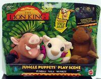 Mattel Lion King Jungle Puppets Play Scene Set Pumbaa Nala Monkey 1994 New HTF