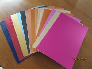 ASSORTED SHEETS OF A4 CARDSTOCK  - 37 SHEETS