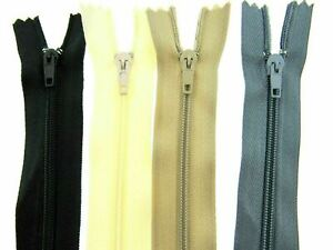 """100 X CUSHION ZIPS - SIZES 12"""" to 22""""~BULK PACK OF 100,~12 inches to 22 inches"""