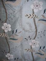 "HARLEQUIN ""NADINA SILK"" 2.6 metres curtain designer fabric  DUCKEGG BLUE"