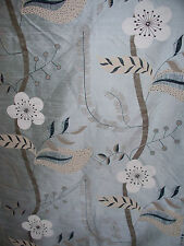 "HARLEQUIN ""NADINA SILK"" 6.7 metres curtain designer fabric  DUCKEGG BLUE"