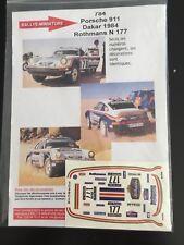 DECALS 1/43 PORSCHE 911 ROTHMANS RALLYE PARIS DAKAR 1984 RALLY WRC