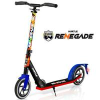 Hurtle HURTSGR Lightweight and Foldable Kick Scooter with High Impact Wheels