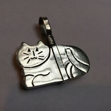 of a Cat Sterling Silver Pendent