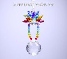 m/w Swarovski *Triple Chakra Floating Lotus Ball* Suncatcher Lilli Heart Designs